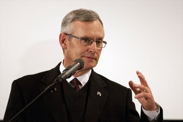 Jim Tressel is an Akron executive vice president for student success. (USATSI)