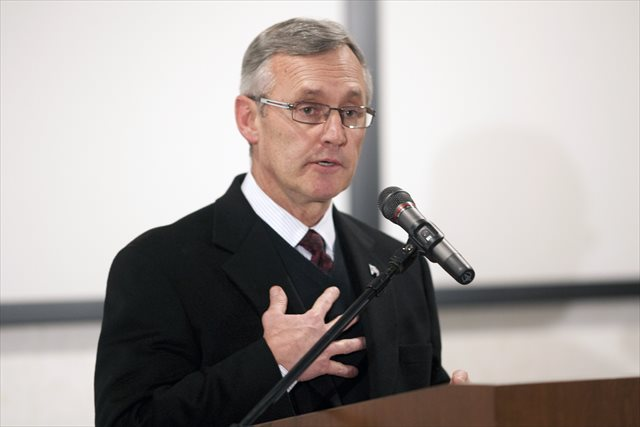 Jim Tressel is the only current candidate for Akron president that does not hold a doctorate. (USATSI)