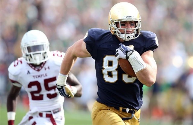 Troy Niklas is the fourth Irish junior to declare for the 2014 draft. (USATSI)