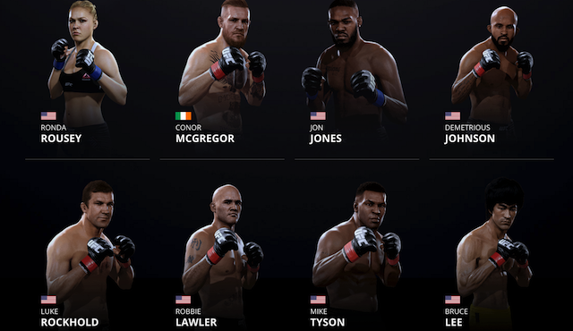 UFC 2 Roster (EA Sports)