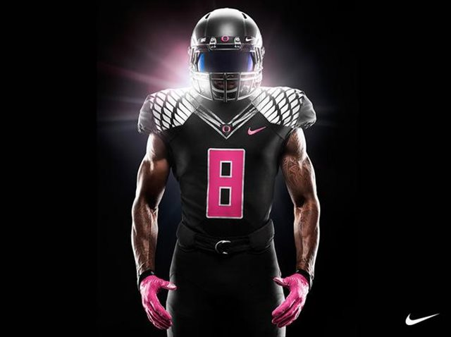 watch a393c 62d57 PHOTOS: Oregon's pink-accented uniforms for breast cancer ...