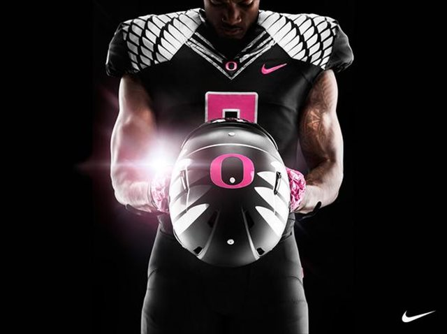 watch 9a2a4 514c4 PHOTOS: Oregon's pink-accented uniforms for breast cancer ...