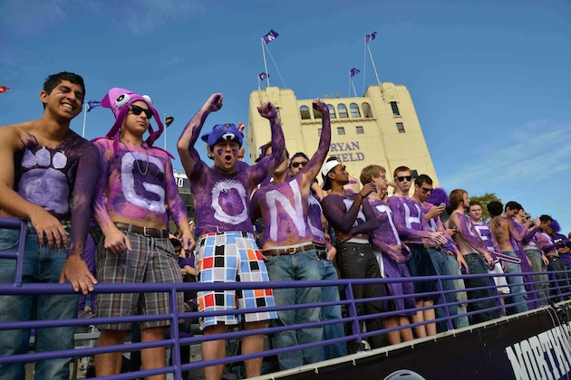 Peanuts will not be allowed inside Ryan Field Saturday. Wildcat nuts, on the other hand ... (USATSI)