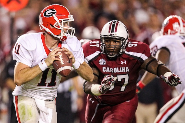 Can Aaron Murray get past South Carolina for another SEC East title? (USATSI)