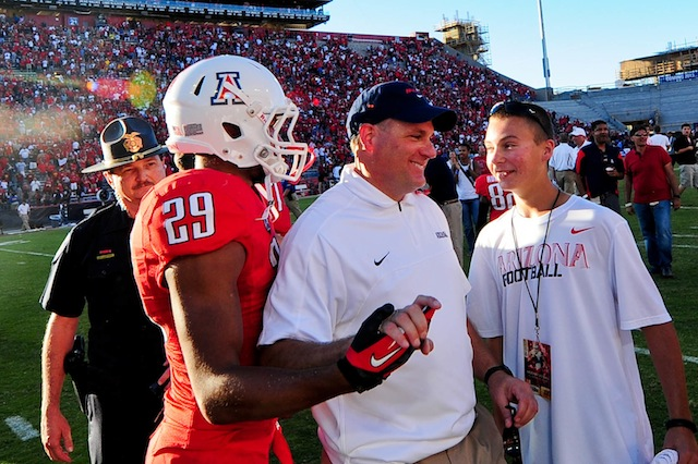 Rich Rodriguez thinks he has been too nice during Arizona's spring practice. (USATSI)