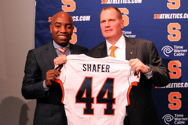 Former defensive coordinator Scott Shafer enters his first spring practice as head coach. (USATSI)