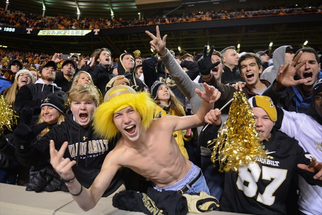 How many Vanderbilt fans will make the short drive to LP Field? (USATSI)