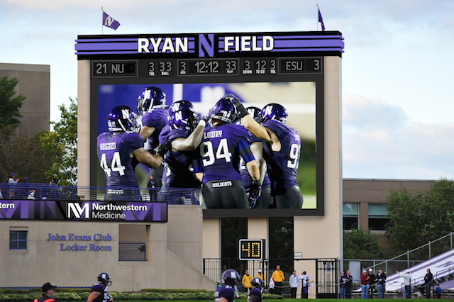 Northwestern video board