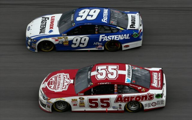 Michael Waltrip in action at Talladega. (Getty Images)