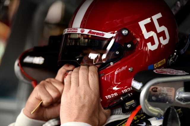 Waltrip's helmet was inspired by Alabama's. (Getty Images)