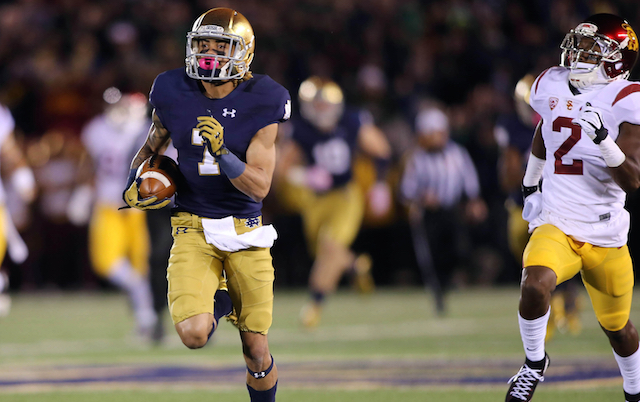 score of the notre dame game cbs sports football scores