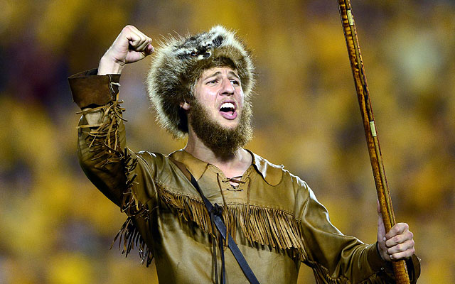 The West Virginia Mountaineer has a gun and likes to burn couches. (USATSI)