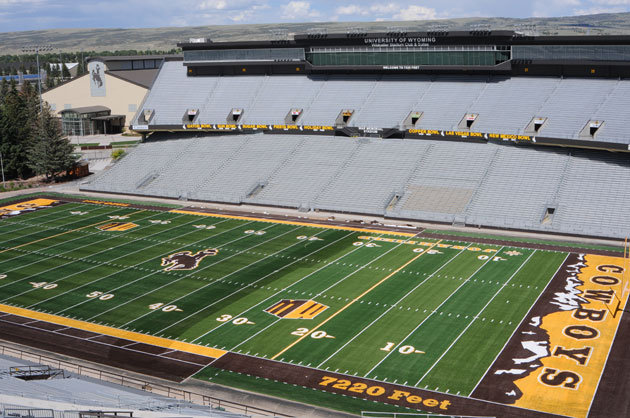 Wyoming's Jonah Field has a new look