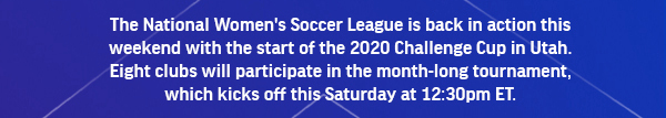 The National Women's Soccer League is back in Action this weekend!