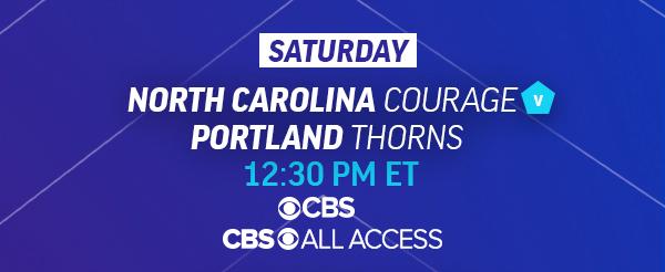 Saturday 12:30pm ET North Carolina vs Portland Thorns