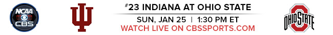 #23 Indiana at Ohio State - Sun, Jan 25 at 1:30 PM EST - Watch Live on CBSSports.com