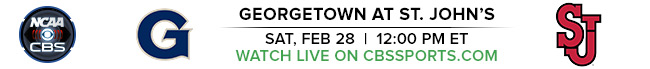 Georgetown at St. John's - Sat, Feb 28 at 12:00 PM EST - Watch Live on CBSSports.com