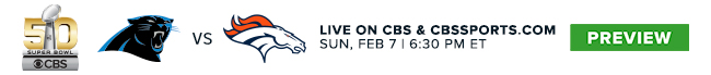 Super Bowl 50 Live on CBS & CBSSports.com - Sun, Feb 7 at 6:30 PM ET