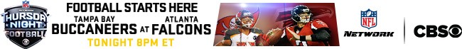 Thursday Night Football - Tampa Bay at Atlanta - Tonight at 8:00 PM