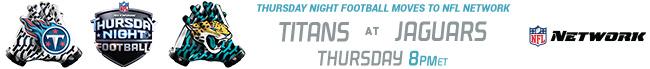 Thursday Night Football - Titans at Jaguars