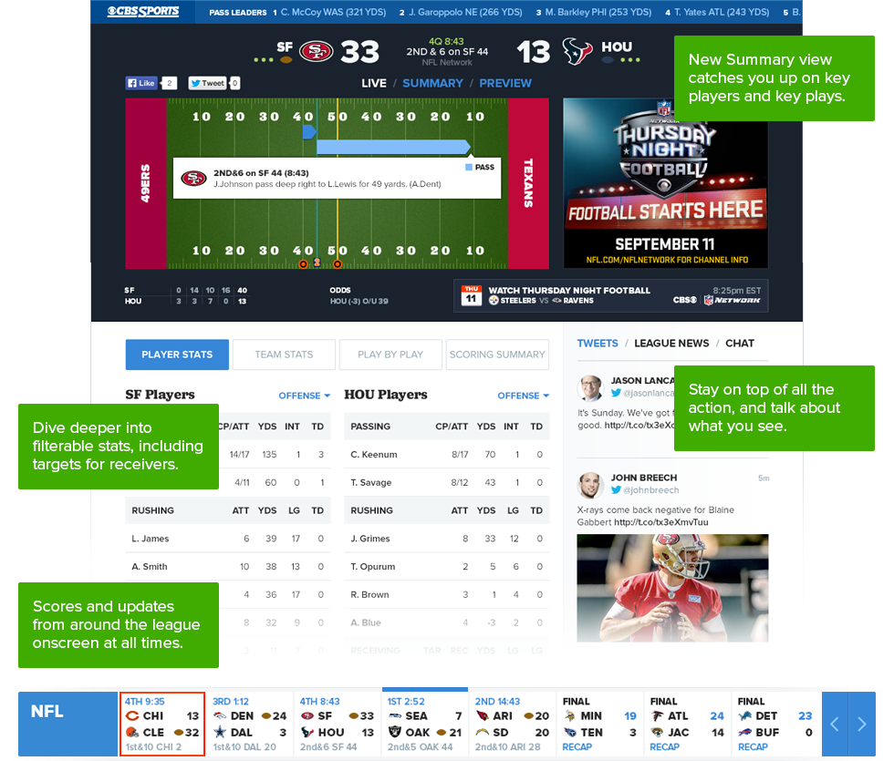 what s new in gametracker cbssports com