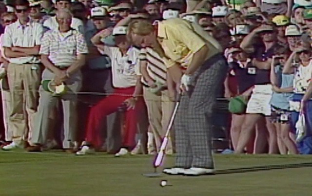 One of the last images of the 1986 Masters. (@TheMasters)