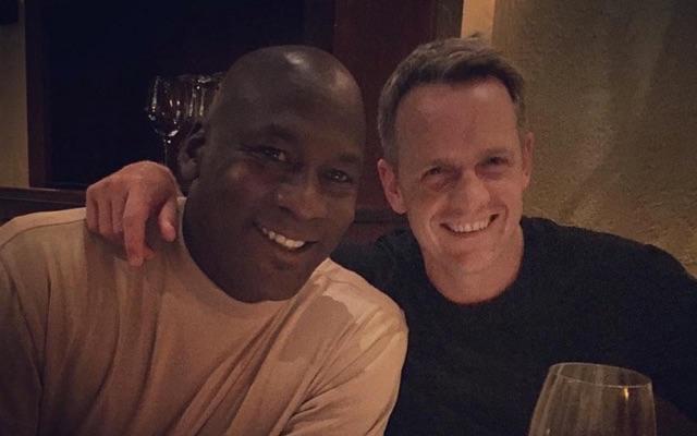 Michael Jordan and Luke Donald. (Instagram/LukeDonald)