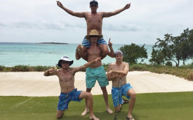 Rickie Fowler and Co. have officially ended SB2K16. (@RickieFowler)