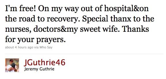 Guthrie Tweet