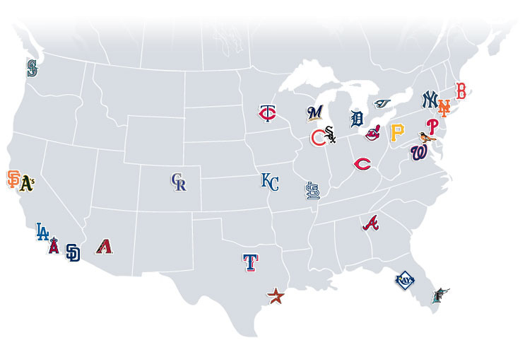 Us Map Of Baseball Teams.Baseball Webquest Computer Lab Blog