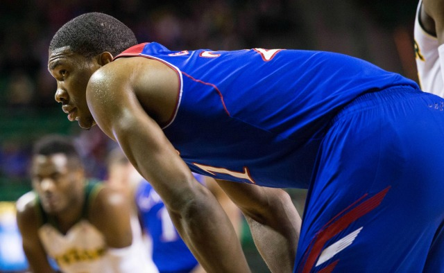Joel Embiid averaged 11.2 points and 8.1 rebounds per game in hislone season at Kansas.