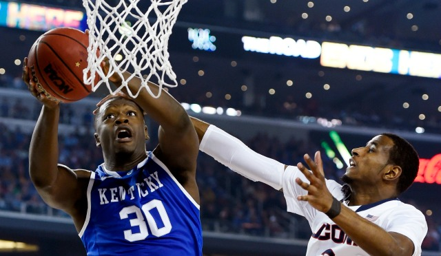 Julius Randle averaged 15.0 points and 10.4 rebounds per game in his lone season at Kentucky.