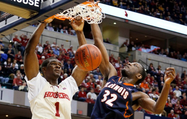 Noah Vonleh averaged 11.3 points and 9.0 rebounds per game in hislone season at Indiana.
