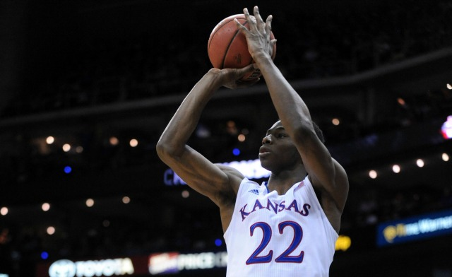 Andrew Wiggins averaged 17.1 points and 5.9 rebounds per game inhis lone season at Kansas.