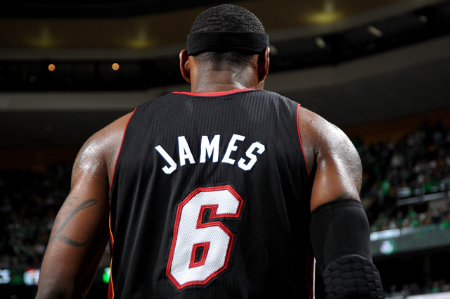 LeBron James could be wearing a jersey with 'King James' on the back next year. (USATSI)