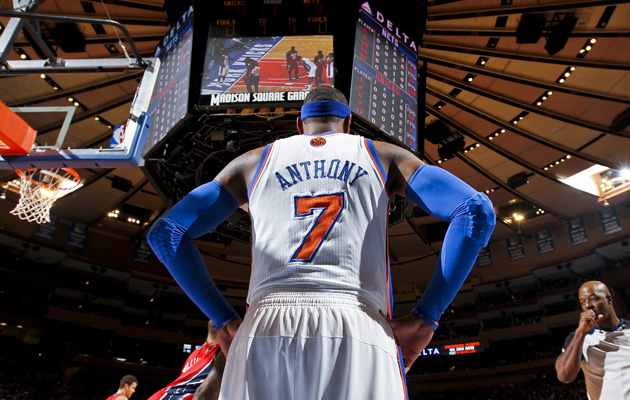 Questions surround Melo's future with the Knicks. (USATSI)
