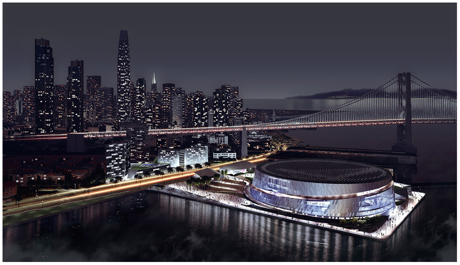 Warriors release rendering for new downtown San Francisco ...