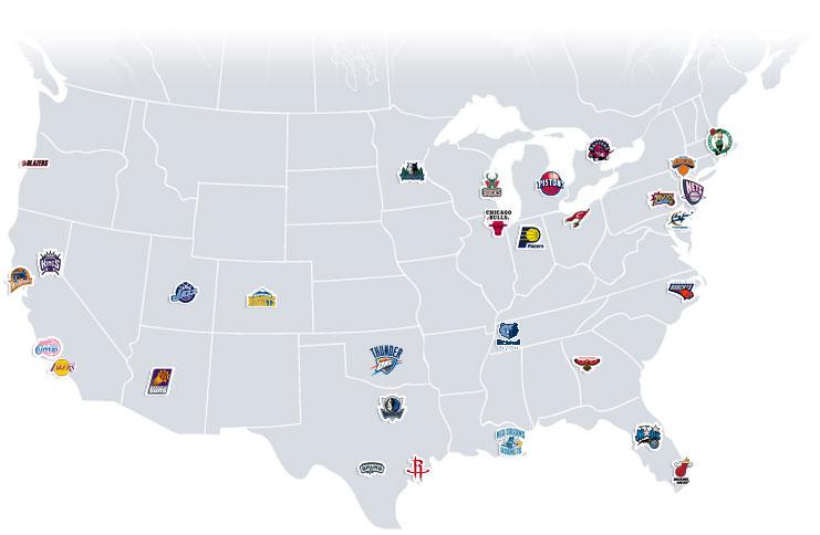 Lockout Blues Of Teams And Man NBAMate - Us map nba teams
