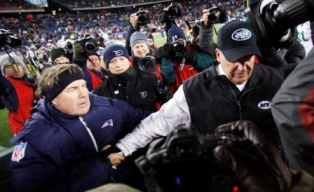 B. Belichick and R. Ryan (US Presswire).