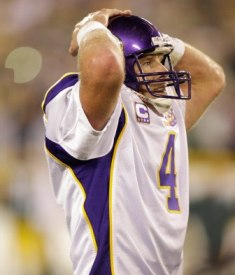 B. Favre probably won't be placed on IR, and if he's healthy enough, he could start Monday (US Presswire).