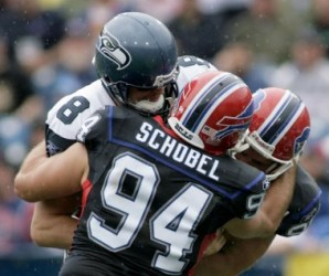 A. Schobel is thinking about returning to Buffalo for another season (Getty).