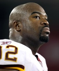 Now, word is A. Haynesworth will play in Washington's season opener (Getty).