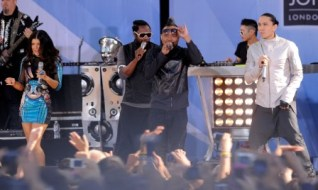 It's been reported the Black Eyed Peas will play the 2011 Super Bowl halftime show (Getty).