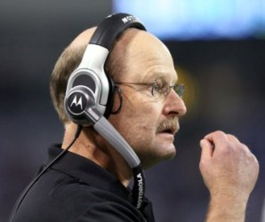 Brad Childress called out B. Favre during his Sunday night news conference (US Presswire).