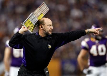 Brad Childress released R. Moss, but apparently didn't clear it with ownership (US Presswire).
