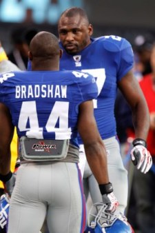 The duo of B. Jacobs and A. Bradshaw has been big for New York this year (US Presswire).