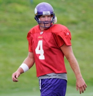 B. Favre returned to practice today in Minnesota (AP).