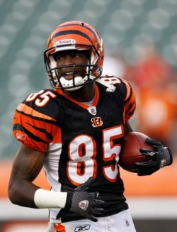 C. Ochocinco shown here in pregame warmups before the Philadelphia preseason game (US Presswire).