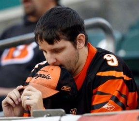 Cincinnati's fans were not happy after Sunday's loss to Buffalo (US Presswire).