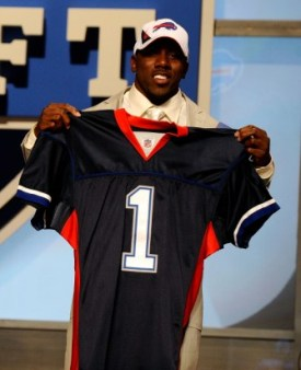 C. Spiller after Buffalo selected him in the first round (Getty)